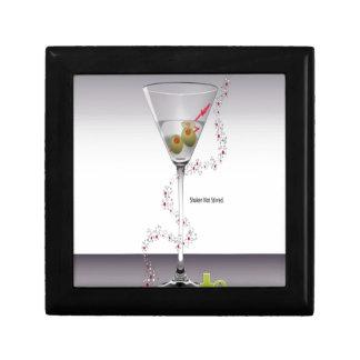 Martini glass design keepsake box
