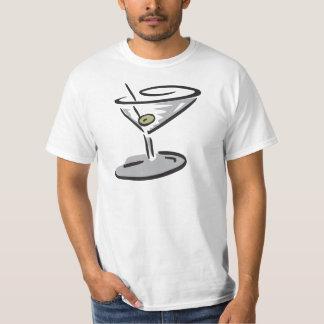 Martini Glass Design T-Shirt