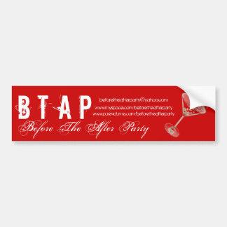 martini glass duotone, B T, A P, Before The Aft... Bumper Sticker
