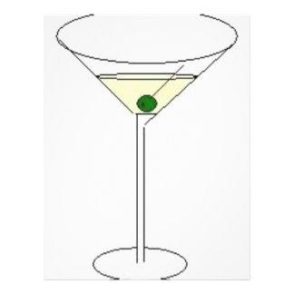 "Martini Glass 8.5"" X 11"" Flyer"