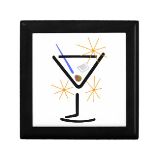 Martini Glass Keepsake Box