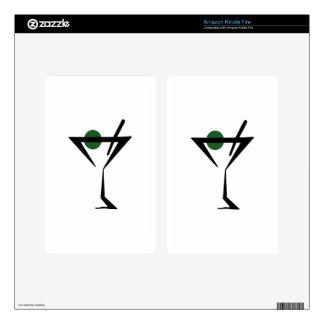 Martini Glass Kindle Fire Decal