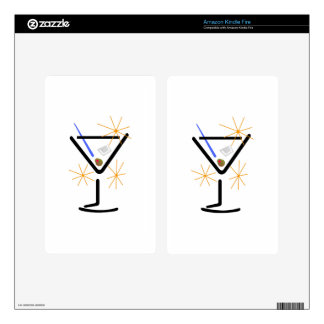 Martini Glass Kindle Fire Skin