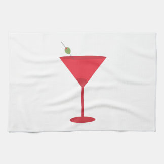 Martini Glass Hand Towel