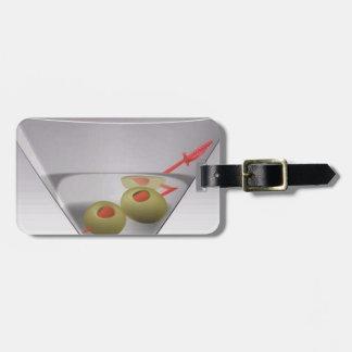 Martini glass travel bag tags