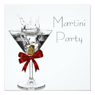 Martini Glass Martini Party Invitations