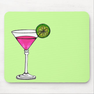 Martini Glass Mouse Pad