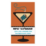 Martini glass needle and thread sewing gift tag Double-Sided standard business cards (Pack of 100)