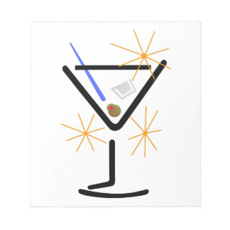 Martini Glass Notepad