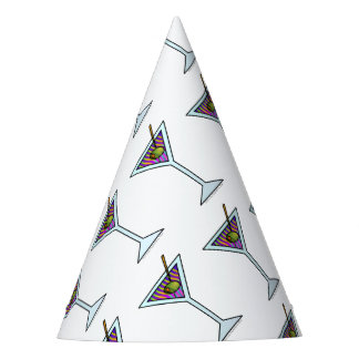 MARTINI GLASS PARTY HAT