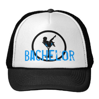 Martini glass silhouette blue bachelor party hat