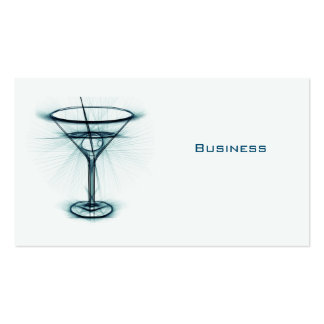 Martini Glass Sketch Business Card