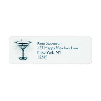 Martini Glass Sketch Label