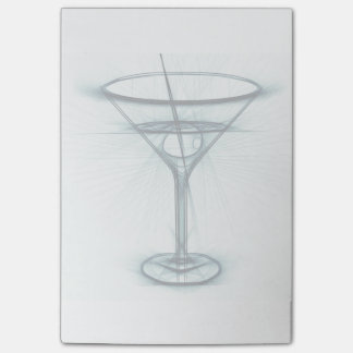 Martini Glass Sketch Post-it Notes
