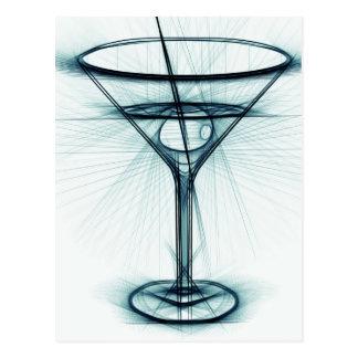 Martini Glass Sketch Postcard
