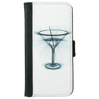 Martini Glass Sketch Wallet Phone Case For iPhone 6/6s