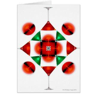 Martini glass snowflake card