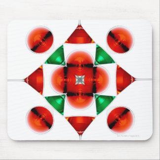 Martini glass snowflake mouse pads