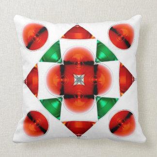 Martini glass snowflake throw pillow