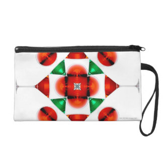 Martini glass snowflake wristlet purse