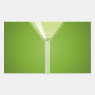 Martini Glass Rectangle Sticker