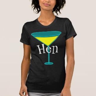 Martini Glasses Hen T Shirts