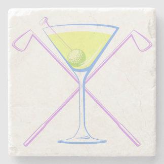 Martini Golf Stone Coaster