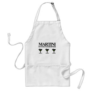 Martini It's What's For Dinner Apron
