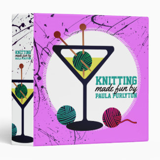 Martini knitting needles yarn knitter craft binder