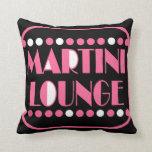 Martini Lounge Throw Pillow