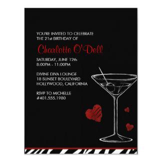 martini   love/ heart; birthday party card