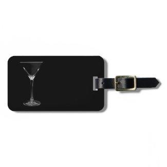 martini luggage tag