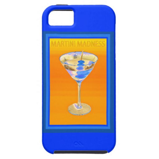 Martini Madness blues iPhone 5 Cover