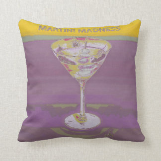 martini madness custom pillow mustard yellow