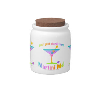 MARTINI ME! Candy or COCKTAIL SNACK JAR Candy Jars