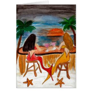Martini Mermaids Greeting Card