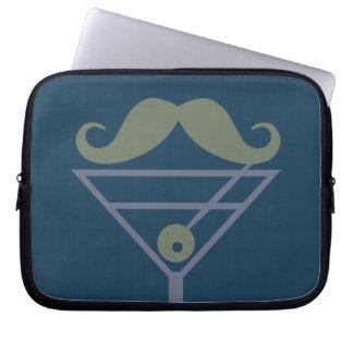 Martini Moustache custom laptop sleeve