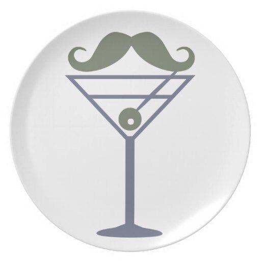 Martini Moustache custom plates