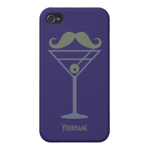 Martini Moustache iPhone cases Case For iPhone 4