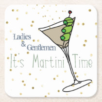 Martini O'Clock Paper Coasters