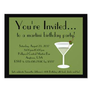 Martini Party 4.25x5.5 Paper Invitation Card