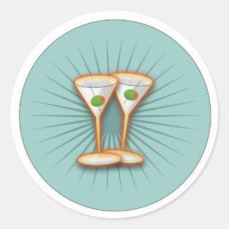 Martini Party Classic Round Sticker