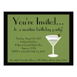 Martini Party Personalized Invite