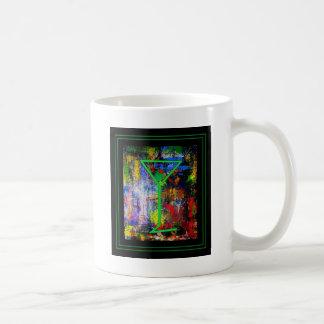 Martini perfecto con las ilustraciones abstractas  taza de café