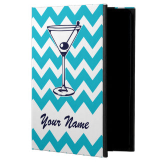 Martini Pictogram with Blue Chevron Pattern iPad Air Cover