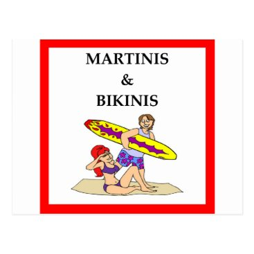 Beach Themed MARTINI POSTCARD