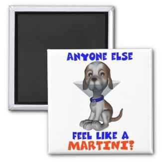 Martini Pup Magnet