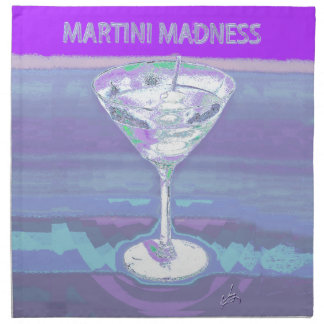 martini purple napkin