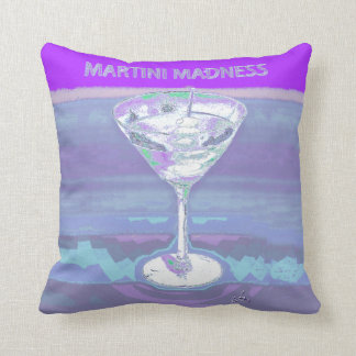 martini purple throw pillow