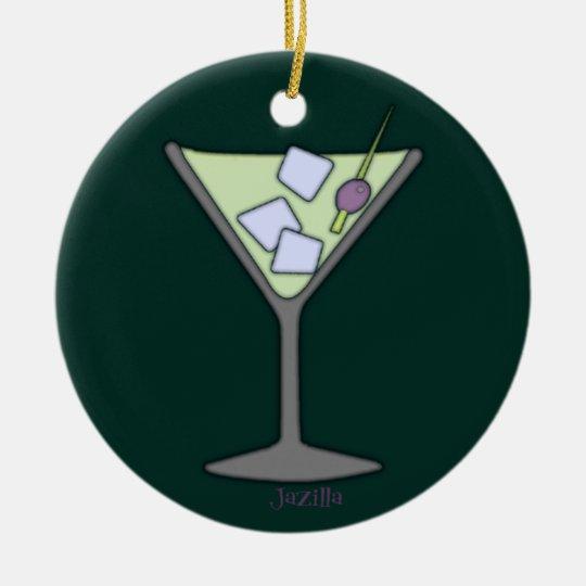 Martini Quick Lime Ceramic Ornament